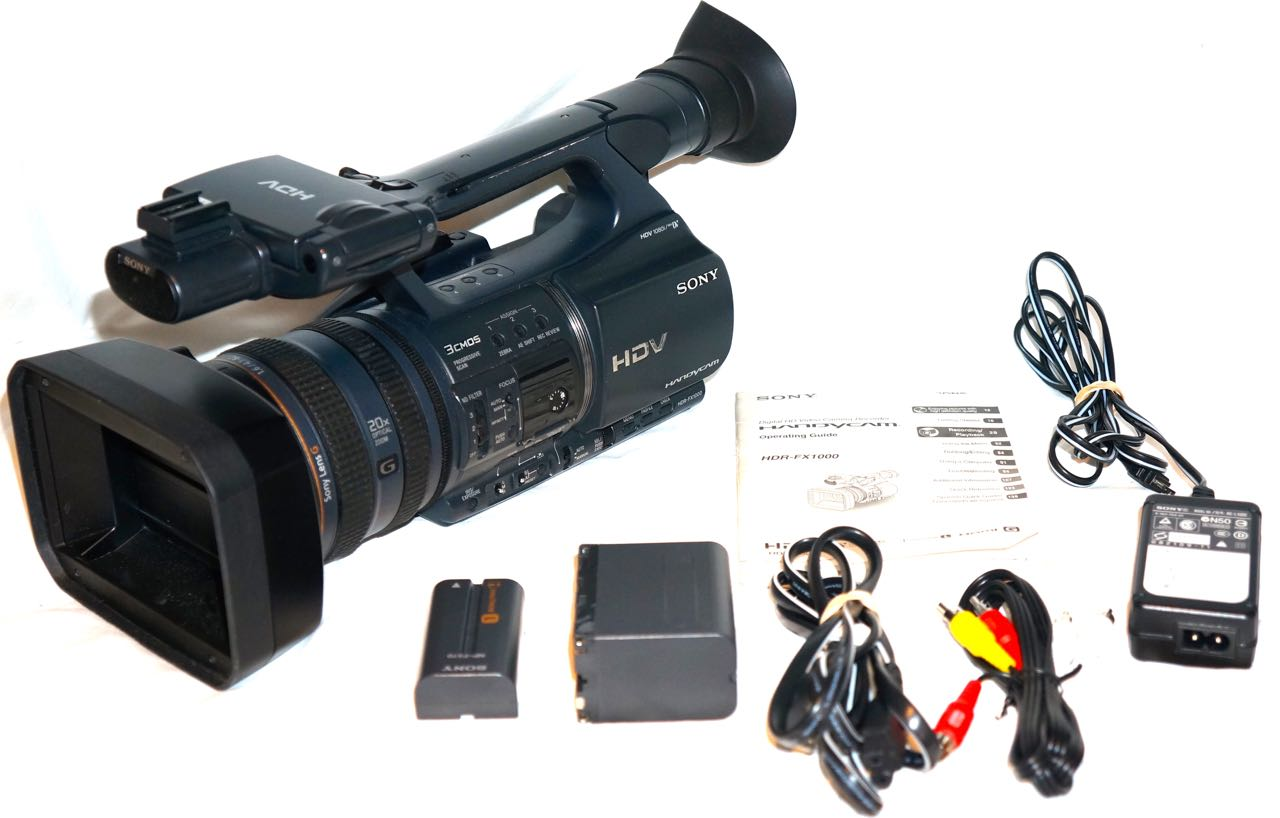 Sony HDR-FX1000 3CCD HDV Camcorder