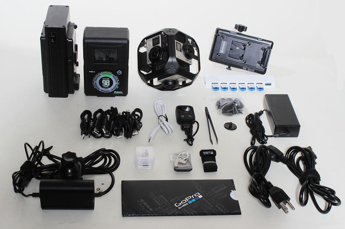 GoPro Omni Rig Kit All Inclusive - Spherical 360 -Model Hero 4 6 Cameras VR!